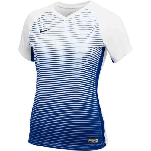 Womens Nike Precision IV Jersey – White/Game Royal