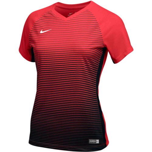 Womens Nike Precision IV Jersey – University Red/Black