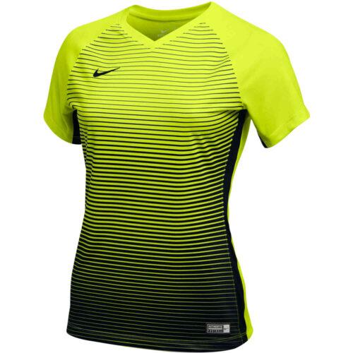Womens Nike Precision IV Jersey – Volt/Black