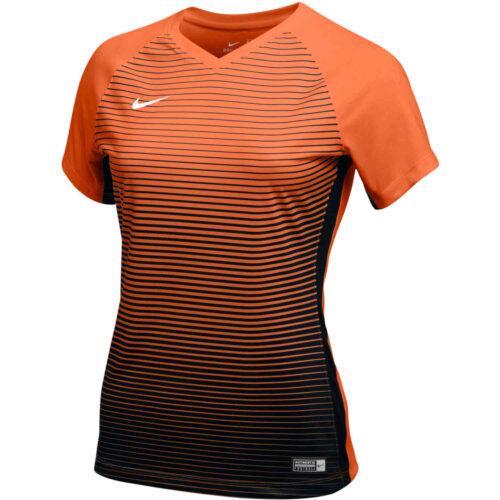 Womens Nike Precision IV Jersey – Orange/Black