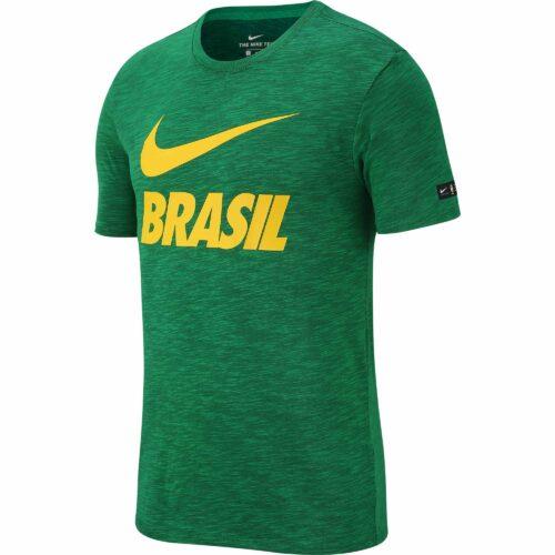 Nike Brazil Preseason Slub Tee – Lucky Green
