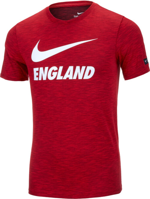 Nike England Preseason Slub Tee – Youth – Challenge Red