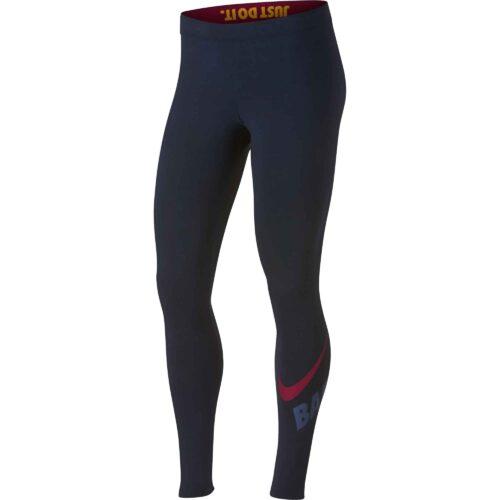Nike Barcelona Leg-a-See Leggings – Obsidian/University Gold/Noble Red
