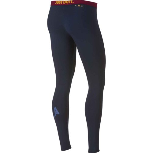 Nike Barcelona Leg-a-See Leggings – Obsidian/University Gold/Noble Red