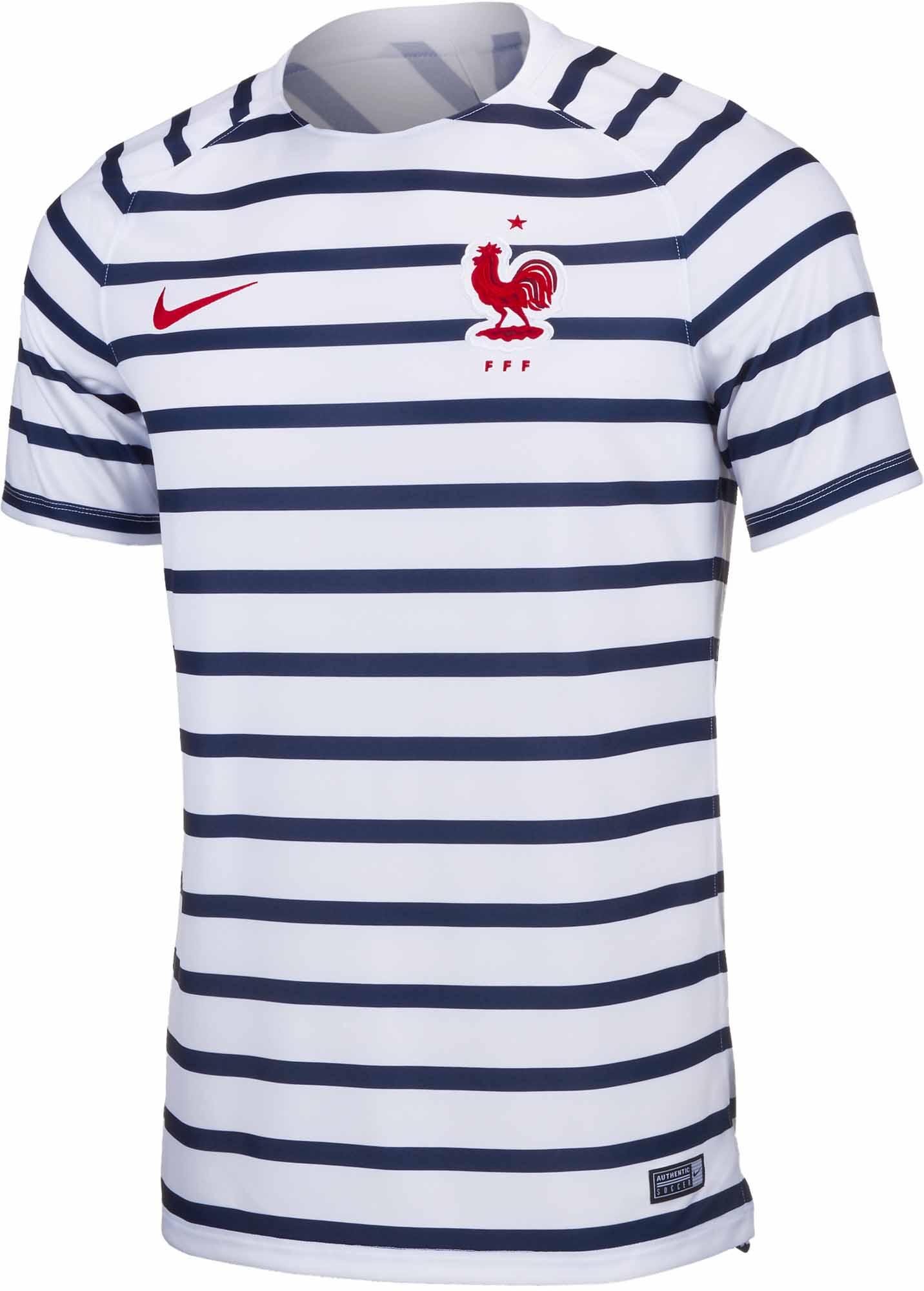 factory price 92f59 1836d Nike France Pre-Match Jersey 2018-19