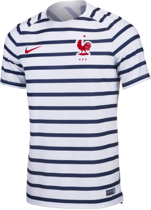 Nike France Pre-Match Top – Youth – White/University Red