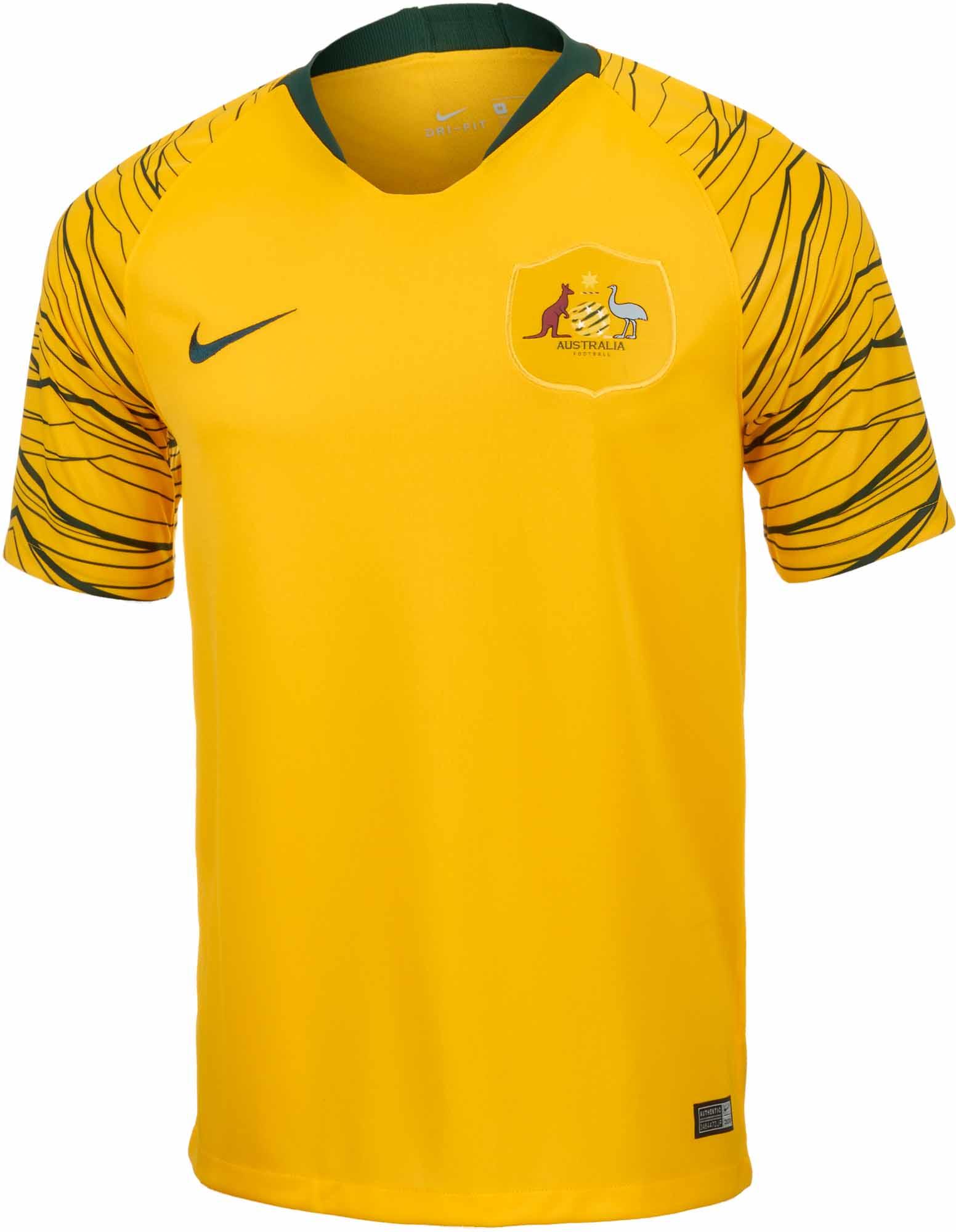 Nike Australia Home Jersey 2018-19 - SoccerPro