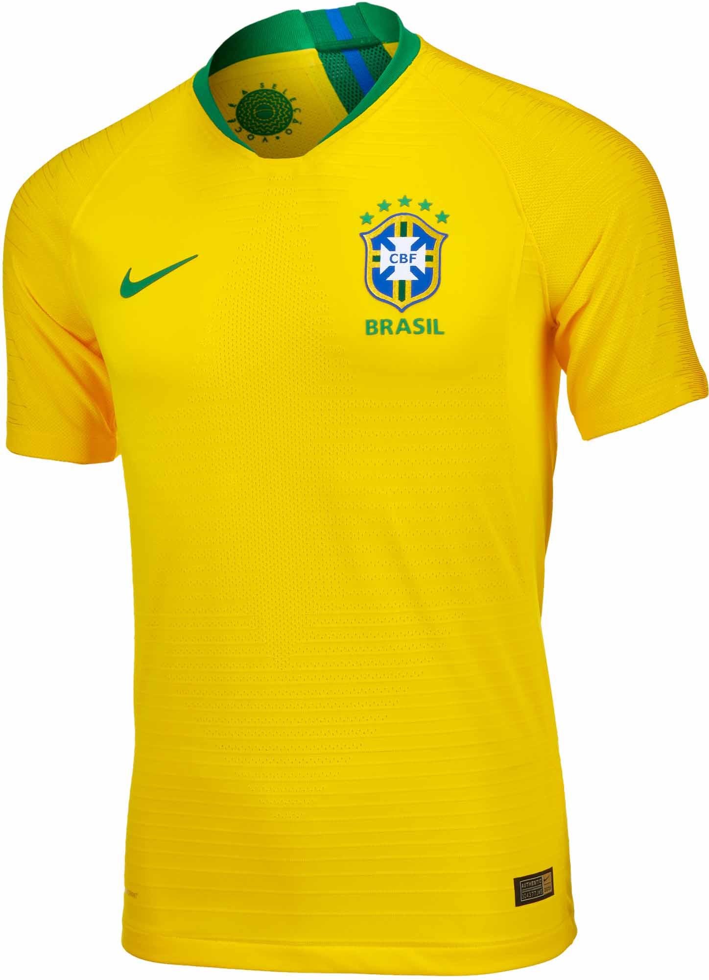 656390b6b Nike Brazil Home Match Jersey 2018-19 - SoccerPro.com
