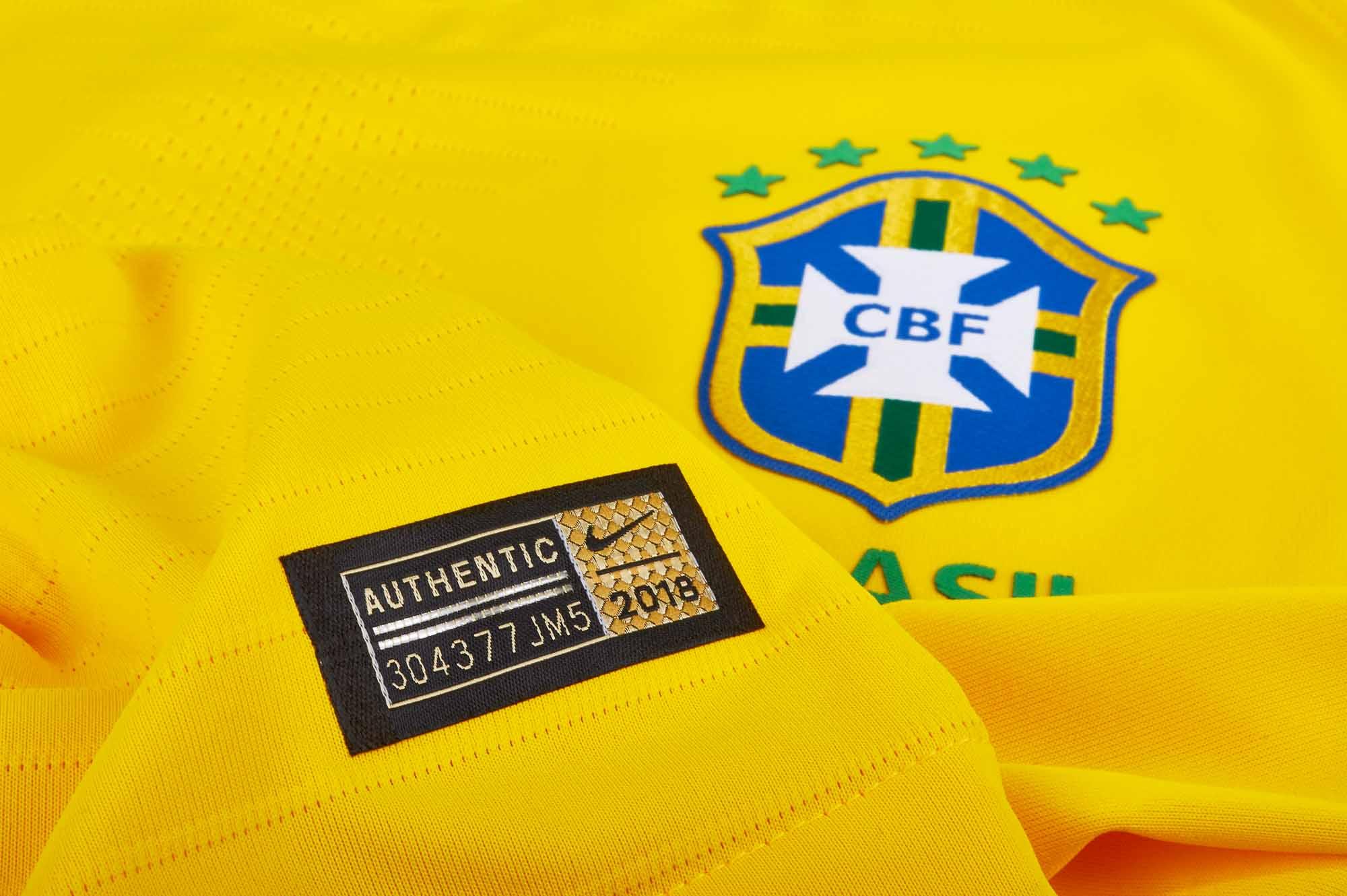 f25cea7025b Nike Brazil Home Match Jersey 2018-19 - SoccerPro