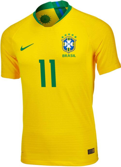 Nike Philippe Coutinho Brazil Home Match Jersey 2018-19