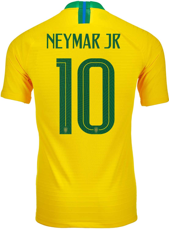 af9fc3471 2018 19 Nike Neymar Jr Brazil Home Match Jersey - SoccerPro