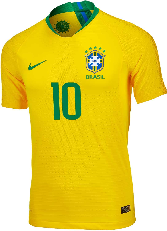 on sale 89c0d 14cef 2018/19 Nike Neymar Jr Brazil Home Match Jersey - SoccerPro