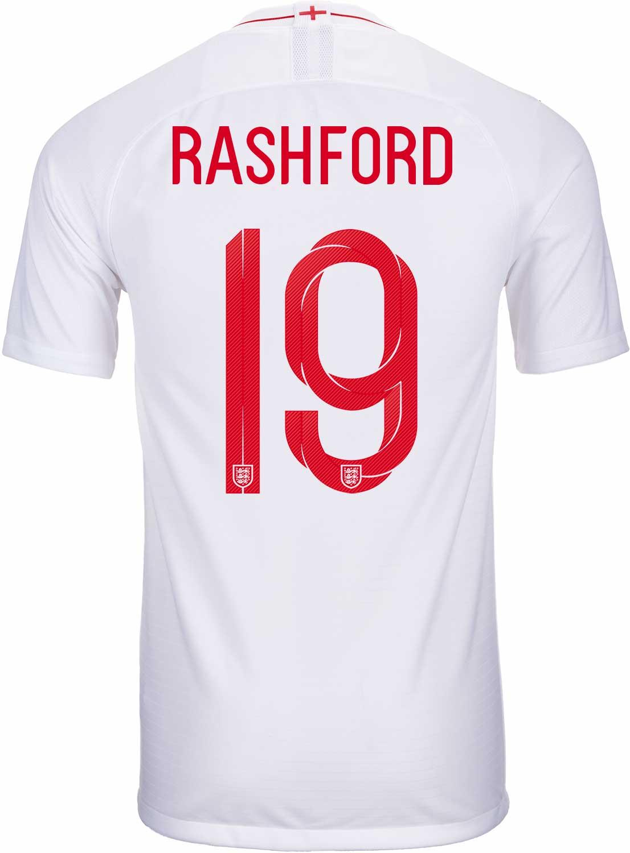 2018 19 Nike Marcus Rashford England Home Jersey Soccerpro