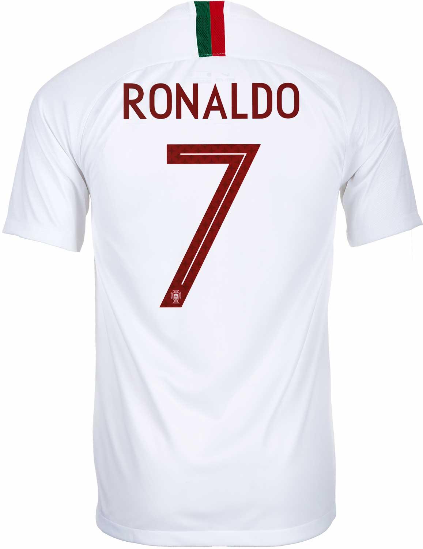 new concept ecb2f c602d 2018/19 Nike Cristiano Ronaldo Portugal Away Jersey - SoccerPro
