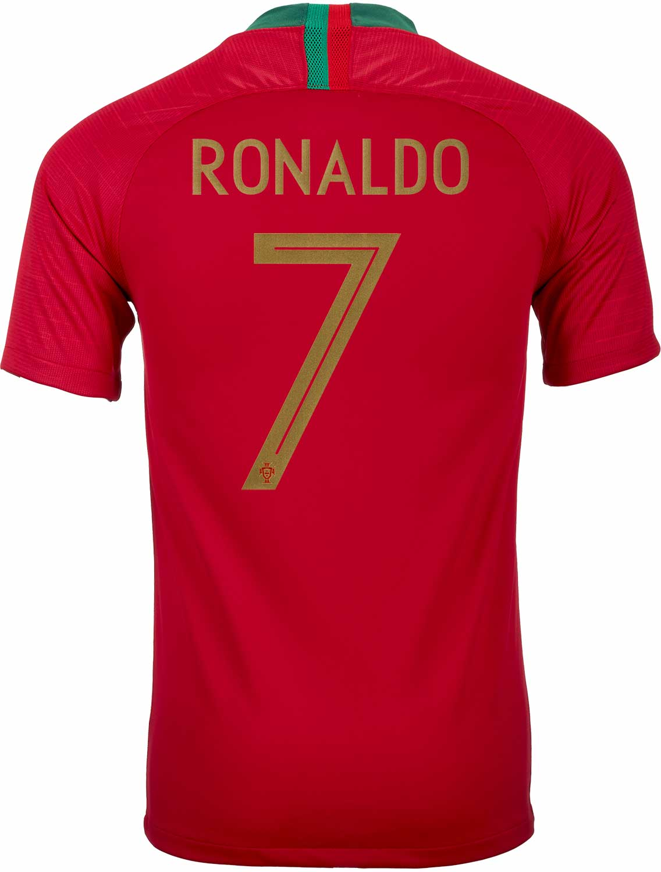 100% high quality various styles san francisco 2018/19 Nike Cristiano Ronaldo Portugal Home Jersey - SoccerPro