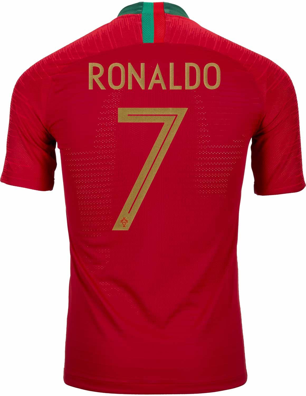 sale retailer 0e7cd 7a580 2018/19 Nike Cristiano Ronaldo Portugal Home Match Jersey ...