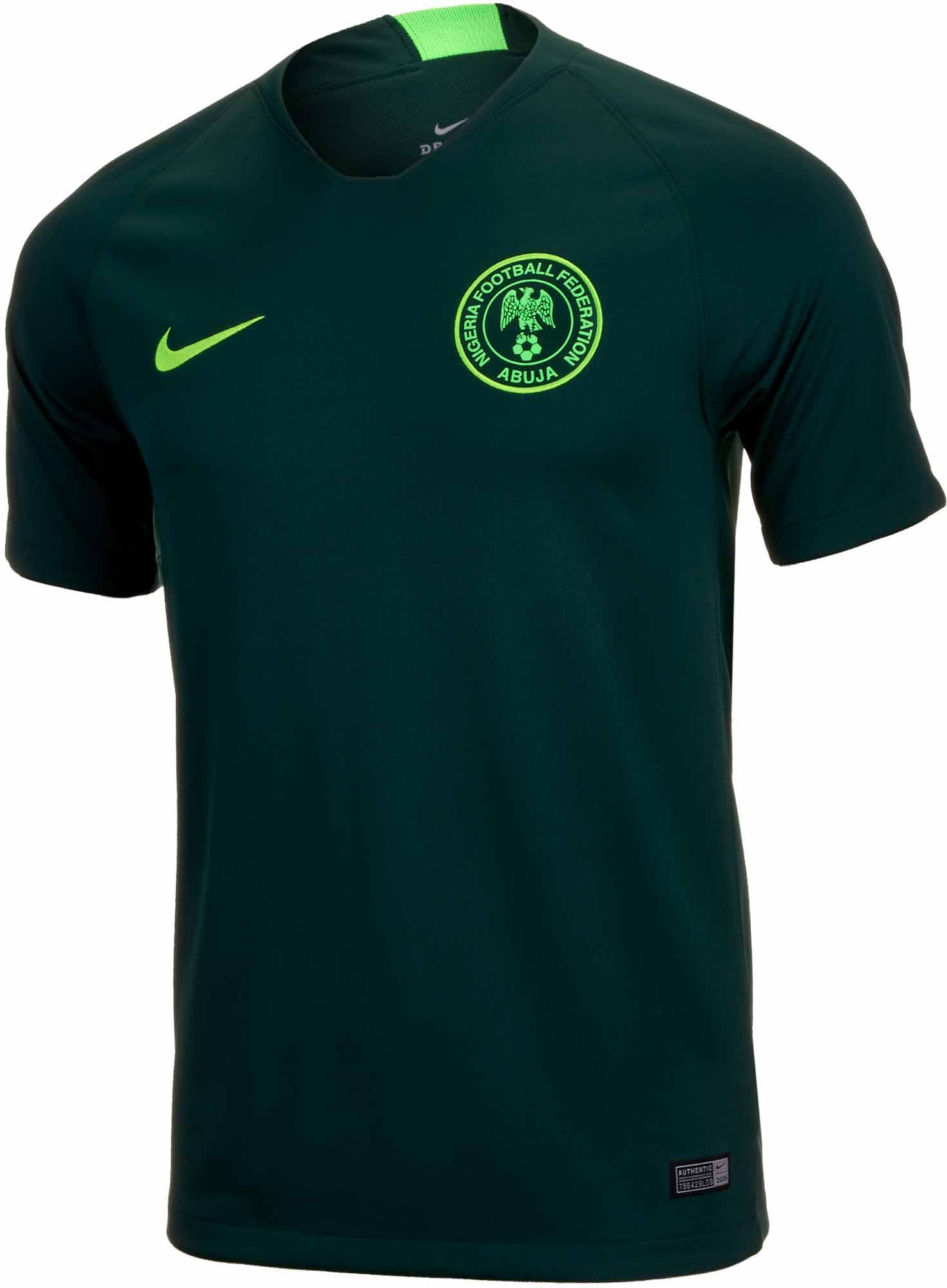 Nike Nigeria Away Jersey - Pro Green/Green Strike - SoccerPro