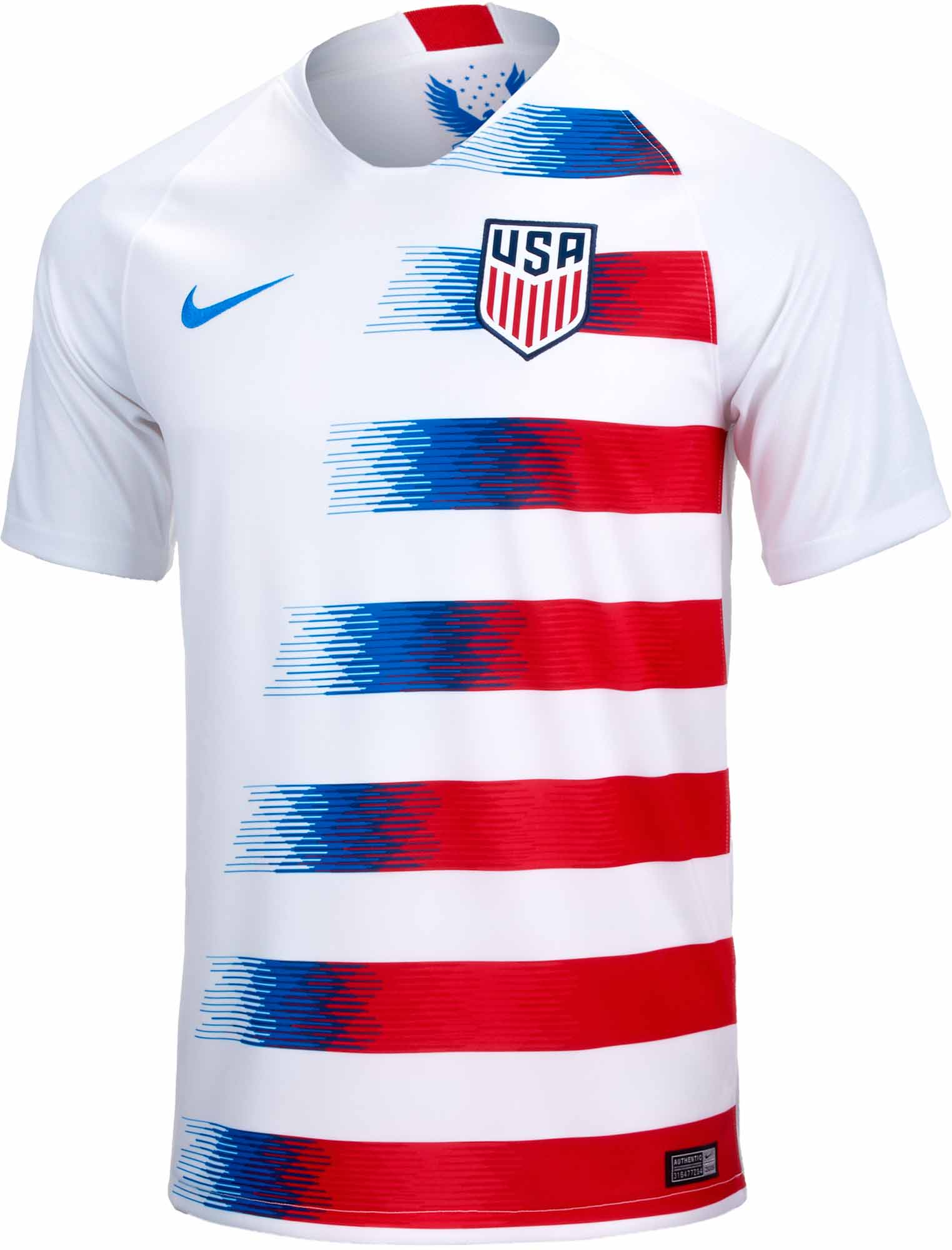 Nike USA Home Jersey 2018-19 - SoccerPro.com