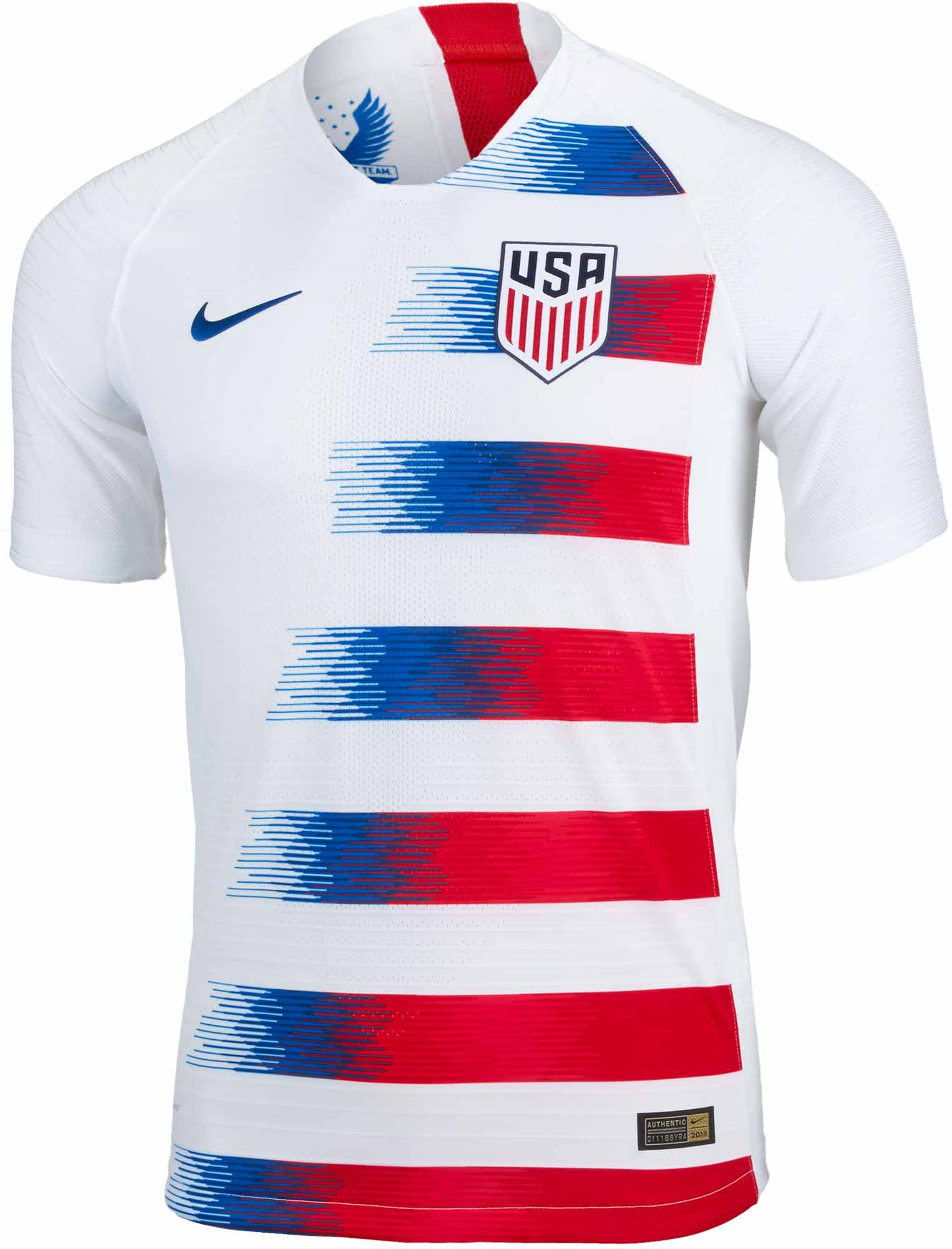 Nike USA Home Match Jersey 2018-19 - SoccerPro.com