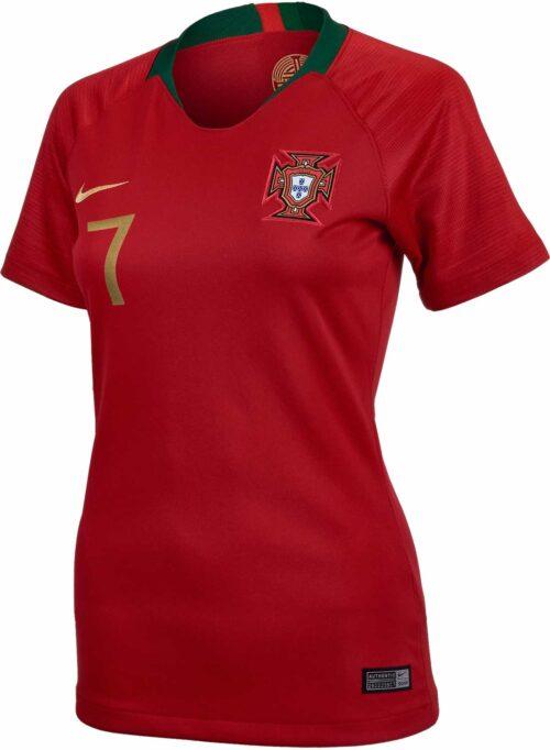 2018/19 Womens Nike Cristiano Ronaldo Portugal Home Jersey