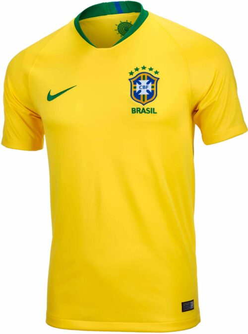 Nike Brazil Home Jersey – Youth 2018-19 NS