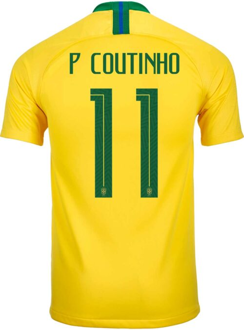 Nike Philippe Coutinho Brazil Home Jersey 2018-19 – Youth