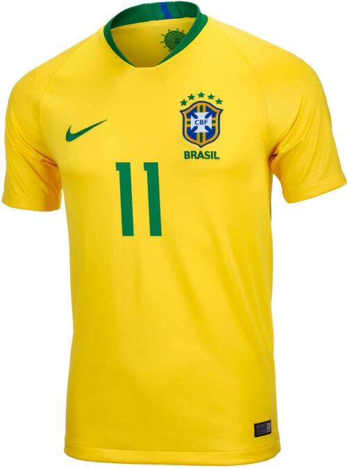 2018/19 Kids Nike Philippe Coutinho Brazil Home Jersey