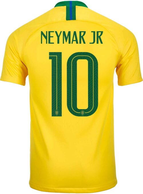 Nike Neymar Jr Brazil Home Jersey 2018-19 – Youth
