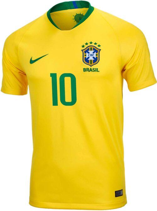 2018/19 Kids Nike Neymar Jr Brazil Home Jersey