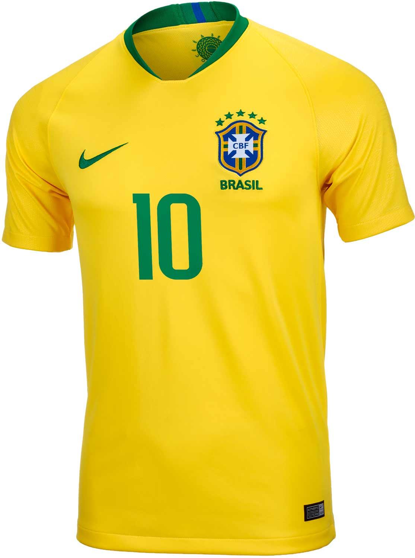 purchase cheap 951f9 e388d 2018/19 Kids Nike Neymar Jr Brazil Home Jersey - SoccerPro