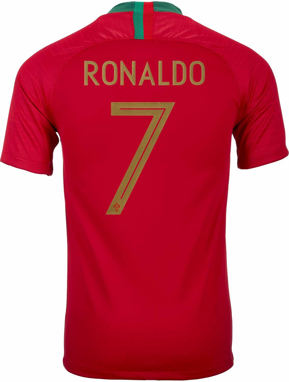 2018 19 Kids Nike Cristiano Ronaldo Portugal Home Jersey - SoccerPro 7efd8355d