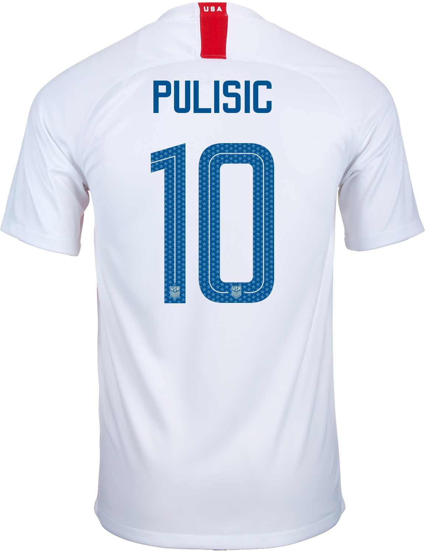961c61ceda1 2018/19 Kids Nike Christian Pulisic USA Home Jersey - SoccerPro