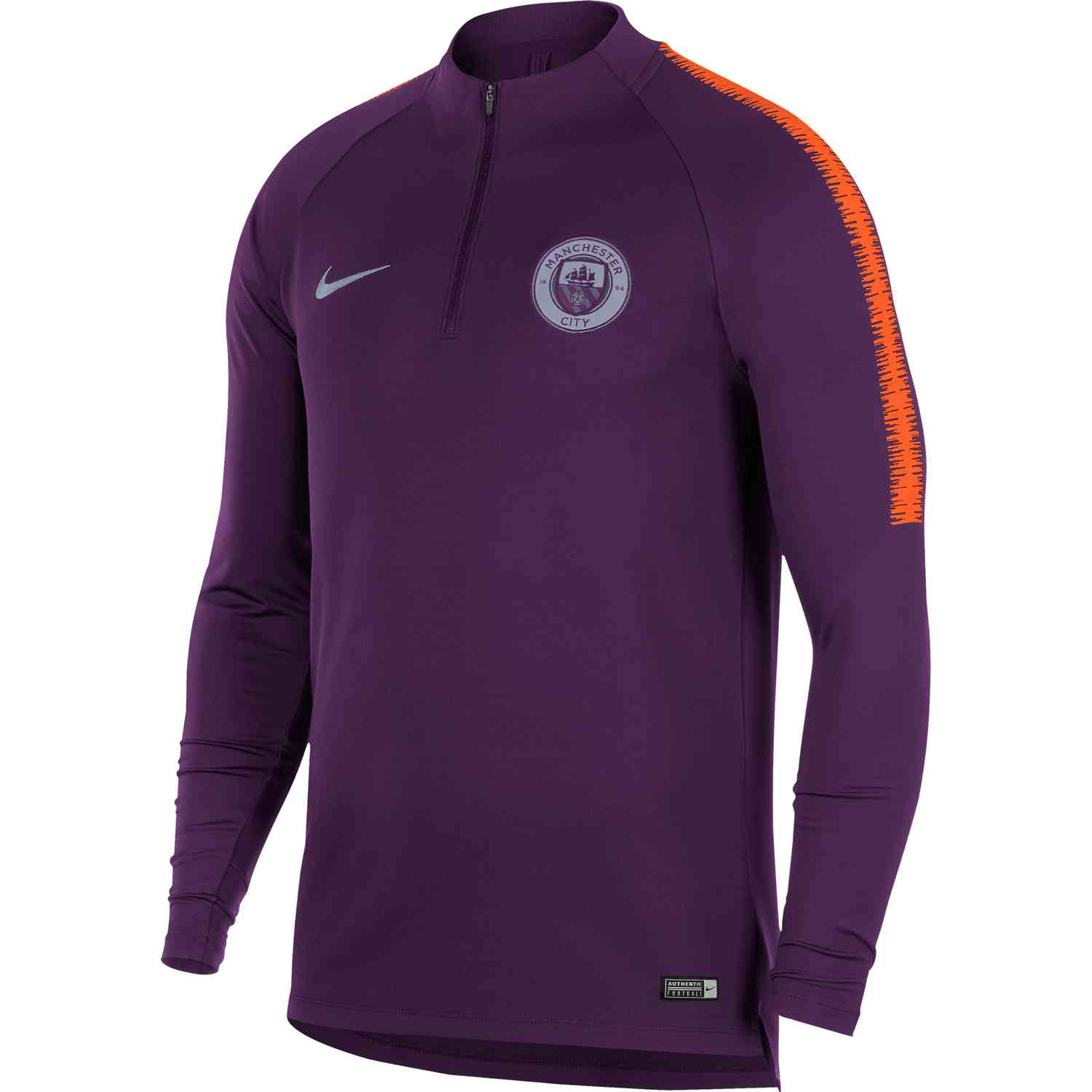 official photos e59f9 d2cfb Nike Manchester City Dry Squad Drill Top – Night Purple