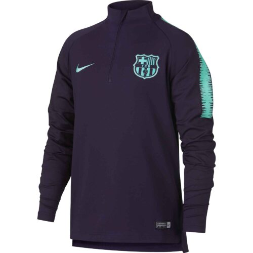 Nike Barcelona Drill Top – Youth – Purple Dynasty/Hyper Turquoise