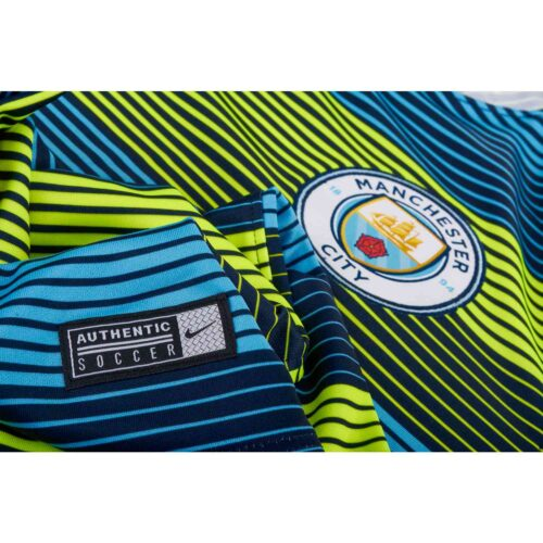 Nike Manchester City Squad Top – Youth – Volt/Field Blue/Dark Obsidian