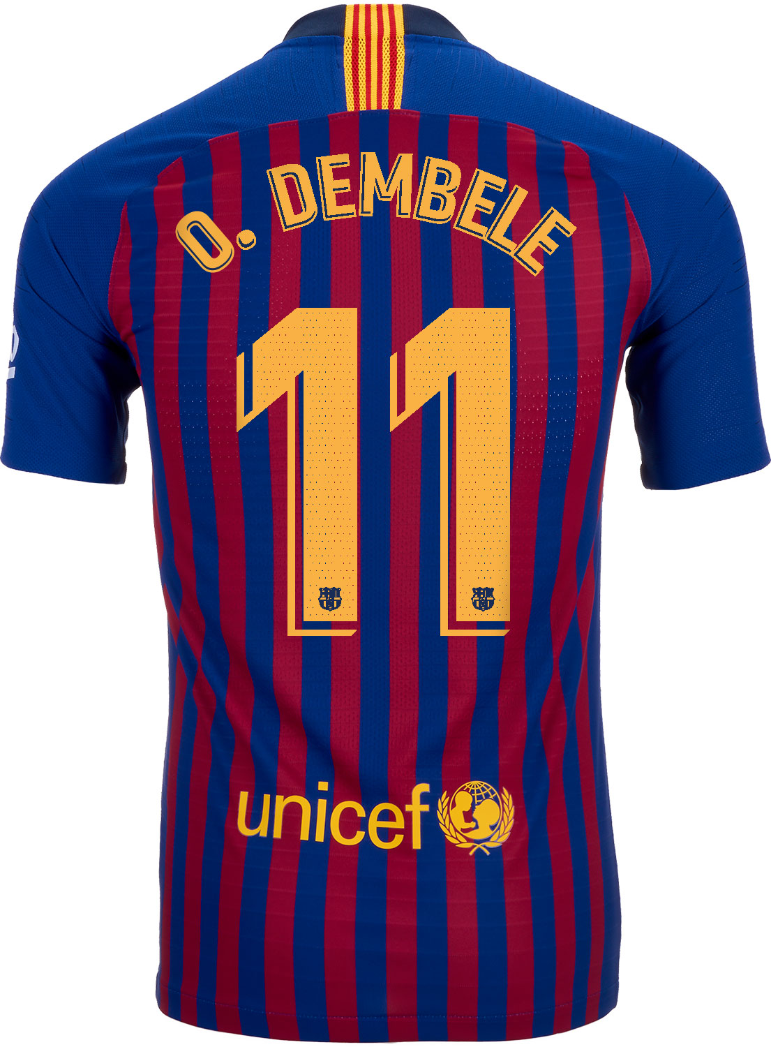 finest selection bed46 926ff 2018/19 Nike Ousmane Dembele Barcelona Home Match Jersey ...
