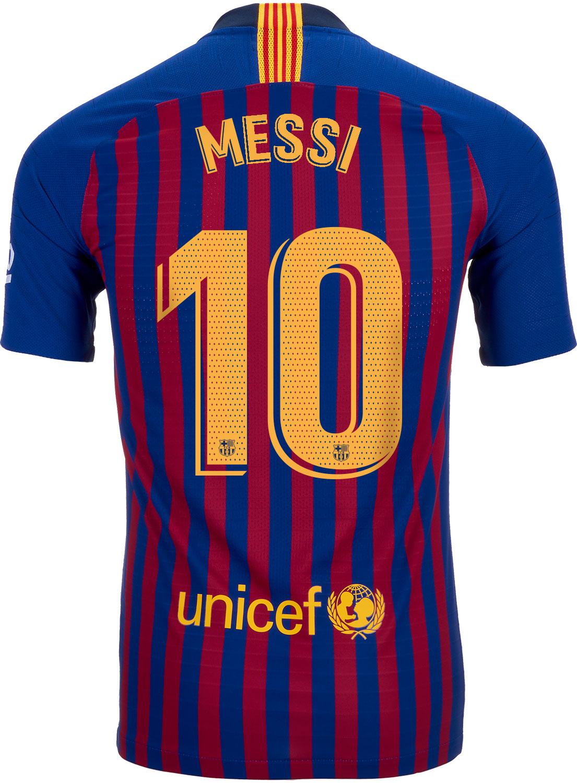 8b2297da5f4 2018/19 Nike Lionel Messi Barcelona Home Match Jersey - SoccerPro