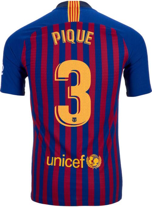 2018/19 Nike Gerard Pique Barcelona Home Match Jersey