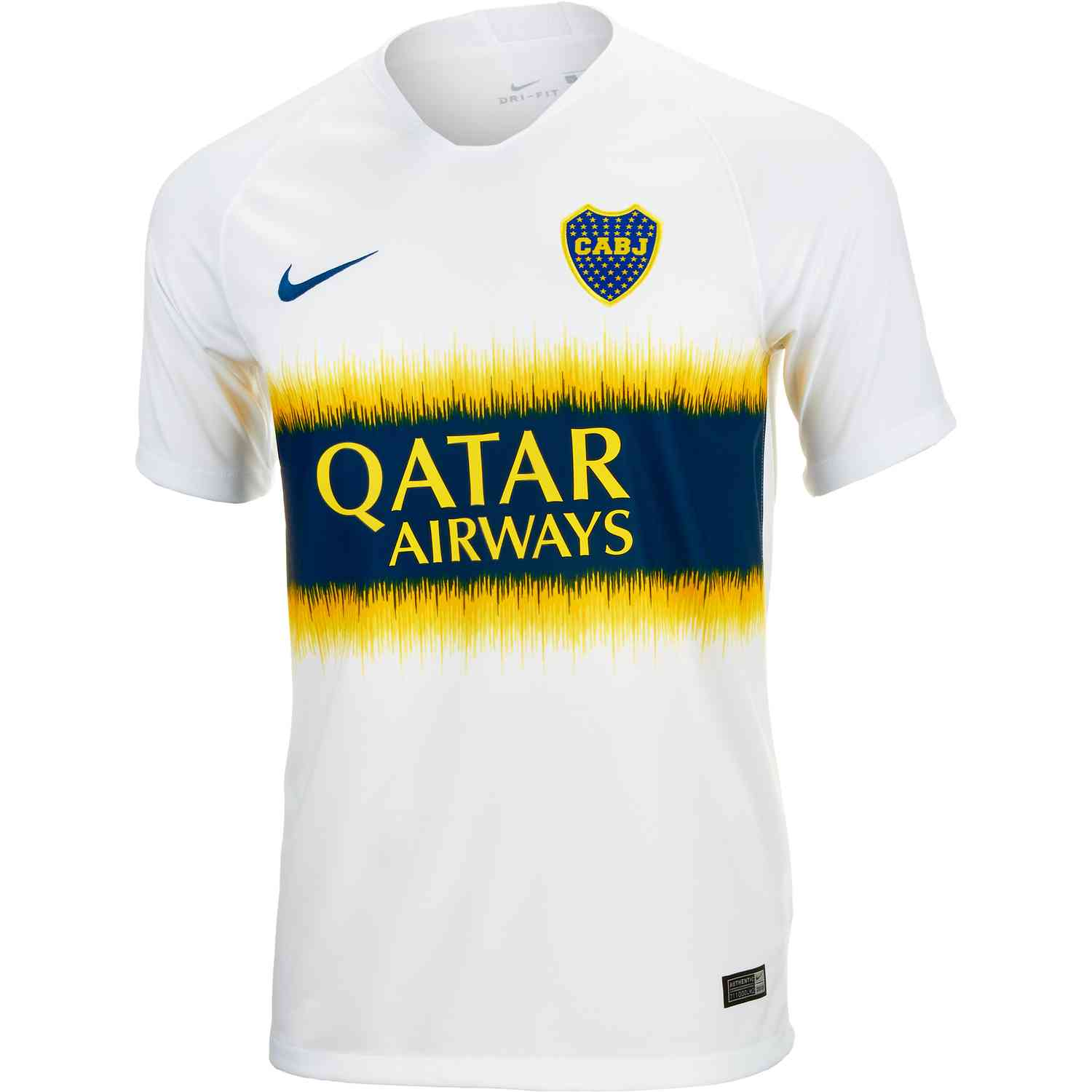 outlet store 345d6 5355e Nike Boca Juniors Away Jersey - White/Brave Blue - SoccerPro