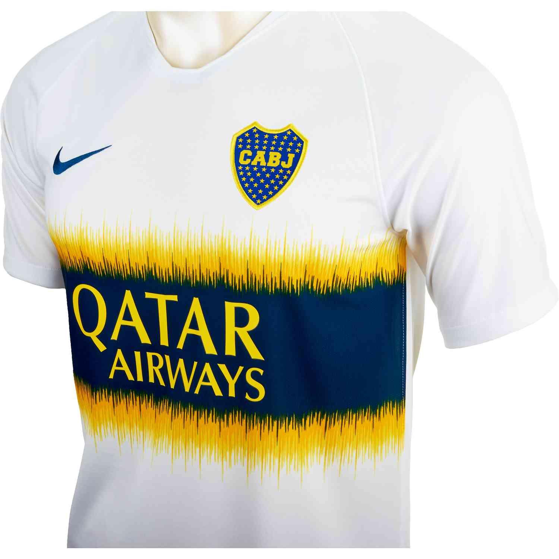 outlet store bbea2 fea65 Nike Boca Juniors Away Jersey - White/Brave Blue - SoccerPro
