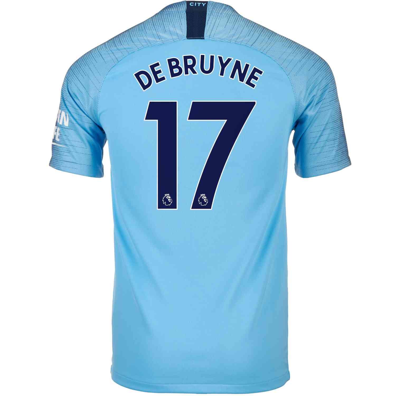 9ee9aadb5 2018 19 Nike Kevin De Bruyne Manchester City Home Jersey - SoccerPro