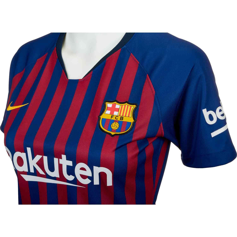 faab53fc Nike Barcelona Home Jersey - Womens 2018-19 - SoccerPro