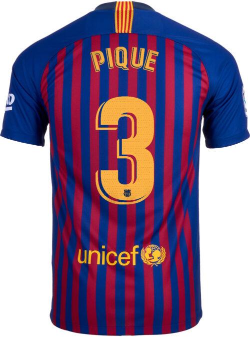 2018/19 Nike Kids Gerard Pique Barcelona Home Jersey