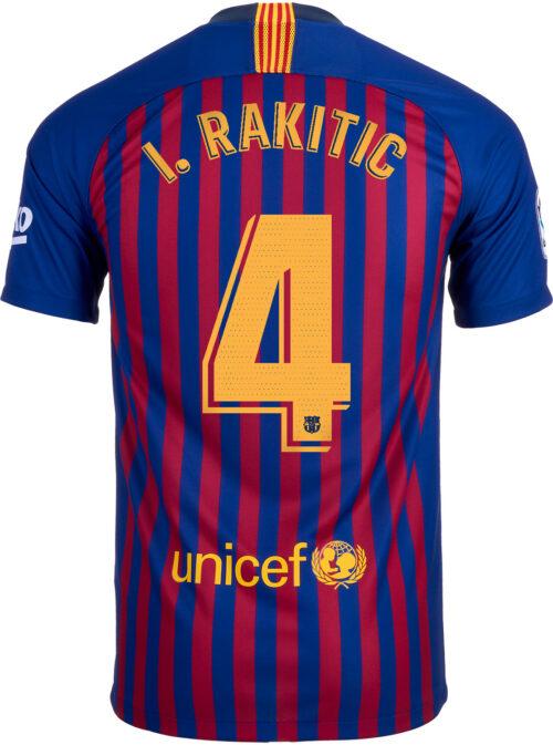 2018/19 Nike Kids Ivan Rakitic Barcelona Home Jersey