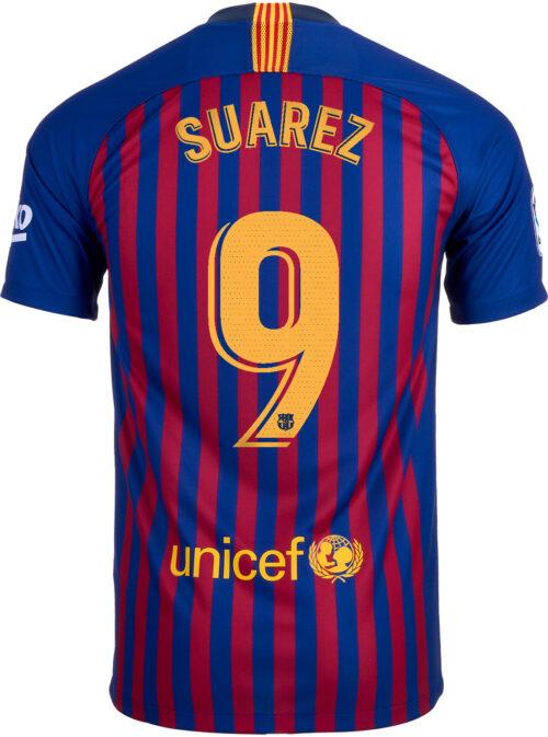 2018/19 Nike Kids Luis Suarez Barcelona Home Jersey