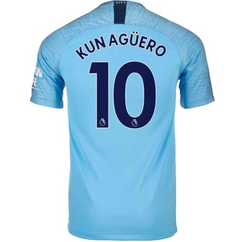 2018/19 Kids Nike Sergio Aguero Manchester City Home Jersey