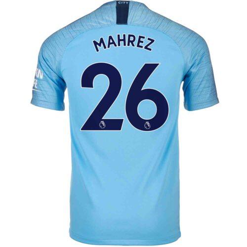 2018/19 Kids Nike Riyad Mahrez Manchester City Home Jersey