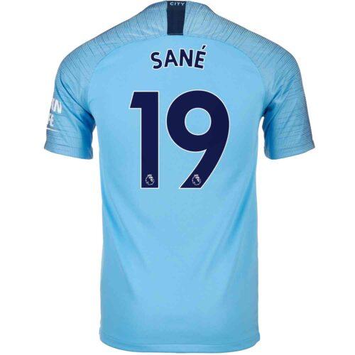 2018/19 Kids Nike Leroy Sane Manchester City Home Jersey