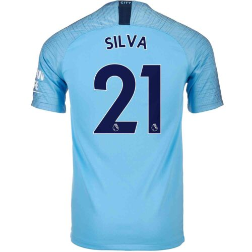 2018/19 Kids Nike David Silva Manchester City Home Jersey