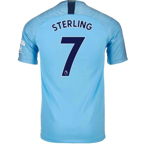 2018/19 Kids Nike Raheem Sterling Manchester City Home Jersey